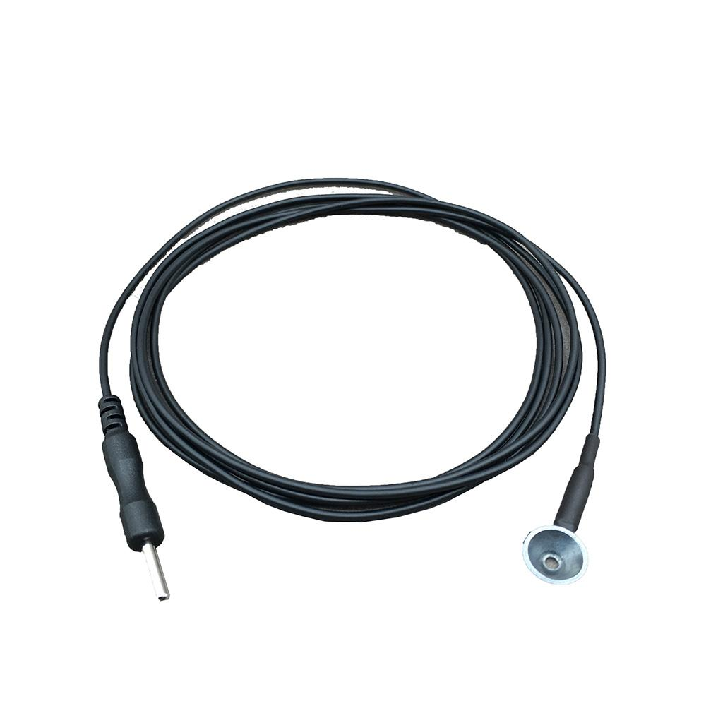 EEG Reusable cup shaped copper material si  er chloride electrode cable 6