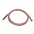 EEG Reusable cup shaped copper material si  er chloride electrode cable 10