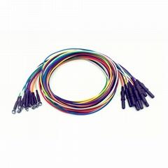 儿童用银氯化银脑电电极,Φ6mm电极,DIN42802(Φ1.5)插孔, 10电极一套