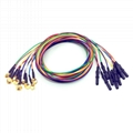 10colors/set, Φ2.0Pin, 1.5 Din Gold cup electrode Cable 2