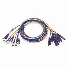 純銀腦電極,鑄造式Φ10mm電極,DIN42802插孔, 10色線一套