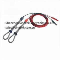 Factory wholesale reusable digital finger ring stainless steel electrode  eeg