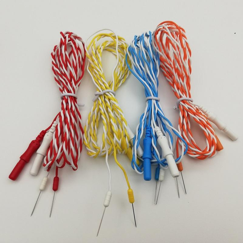 Disposable twisted needle electrodes, DIN42802Φ1.5mm socket to needle electrode 2