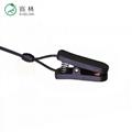 DIN42 802 touch-proof connector EEG bipolar eeg electrodes ear clip 3