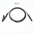 EEG EMG electrode medical cable Biofeedback  insulated alligator clip  2
