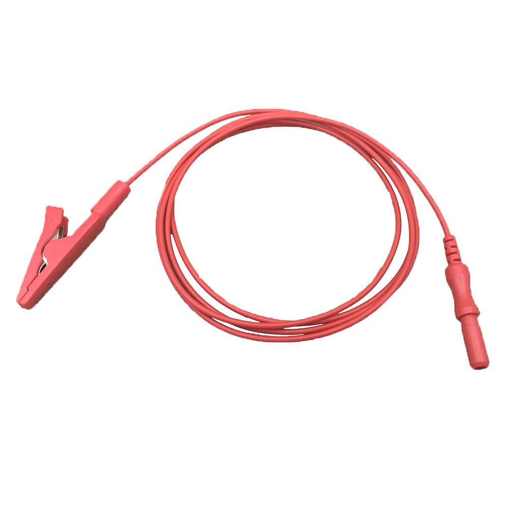 EEG EMG electrode medical cable Biofeedback  insulated alligator clip  3