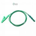 EEG EMG electrode medical cable Biofeedback  insulated alligator clip  4
