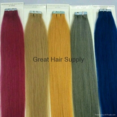 Tape hair extensions Remy brazilian hair good quality