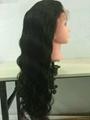 body wave full lace wigs virgin brazilian human hair density 120% 4