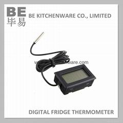 Digital plastic fridge freezer thermometer