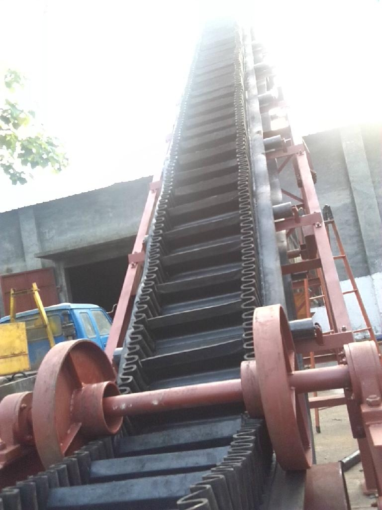 Dj Inclined Sidewall Cleats Belt Conveyor For Sale Dj