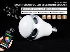 Bluetooth Smart LED Bulb Music Speaker Night Light Lamp 6W E27 RGB Phone Remote