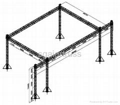 Aluminum stage truss global truss