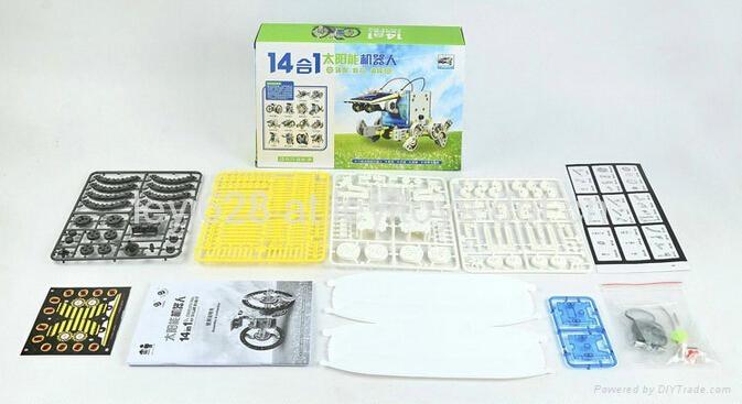 14 IN 1 Solar Robot kit ,DIY Toys for kids 4