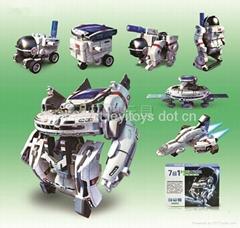 新七合一太陽能太空艦隊(自裝型玩具)