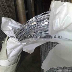 high tensile ga  anized sharp razor barbed wire for security fence