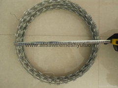 bto-22, 450mm epoxy and galvanized razor wire for sale
