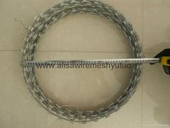 bto-22, 450mm epoxy and ga  anized razor wire for sale
