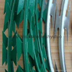 Epoxy Concertina Barbed Tapes razor barbed wire