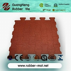 Elastic Dog-bone Playground Rubber Floor Tiles