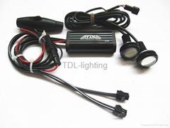 LED Flashing Light Strobe Controller Flasher Module 2 Ways+Eagle eye lamp