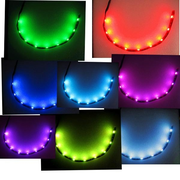 15 Color Change 12Pcs Led Strip lighting Kits For Motorcycle ATV LED  3