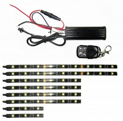 Single Color 8PCS Flexible LED Strip Lights Kit For Motorcycle LED Lighting