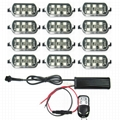 12 RGB Led PODs Universal Motorcycle