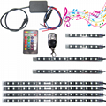 2 Remotes Sounds Active Led Strip 18 Color Change Kit For Motorcycle Led lights 1