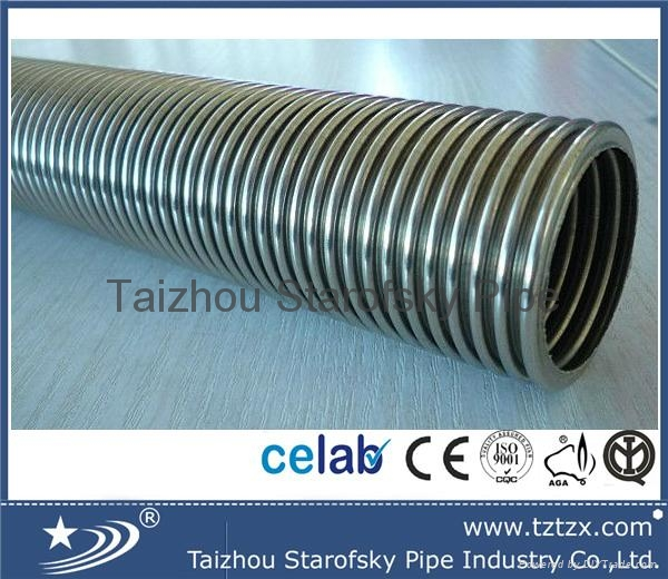 Large diameter stainless steel flexible water hose tzx