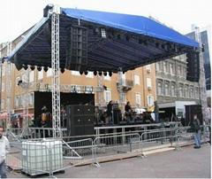 hot sale aluminum stage truss   square truss with 4 pillars