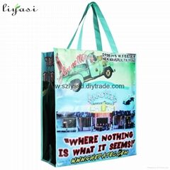 Full Color Print PP Laminated Nonwoven Fabric Handbag