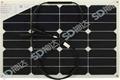 30W semi-flexible solar module