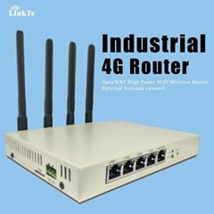 Industrial 4G WiFi Router with OpenWrt PoE 500mw High Power