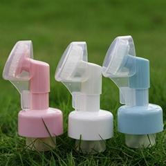 43mm  Face Clean Mousse Pump Silicon Massage Brush Foam pump