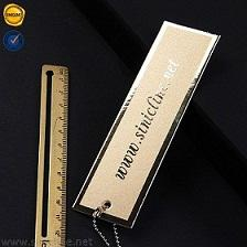 Sinicline design luxury 270gsm gold card UV matte ink printed paper hang tags
