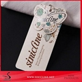 Sinicline design luxury 270gsm gold card UV matte ink printed paper hang tags 4