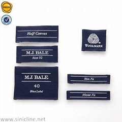 Sinicline Customized garment woven label clothing label