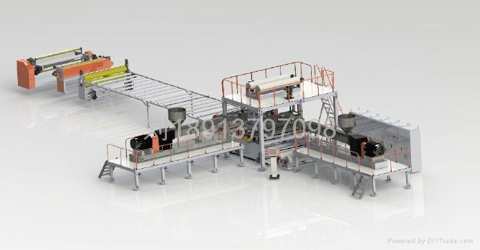 TPO waterproofing membrane production line