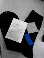 cotton argyle socks for