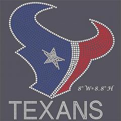Texans Rhinestone Transfer