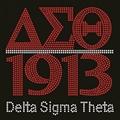Letters Delta Sigma Theta rhinestone