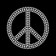 peace rhinestone transfe