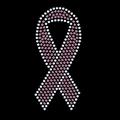 Pink ribbon rhinestone transfer