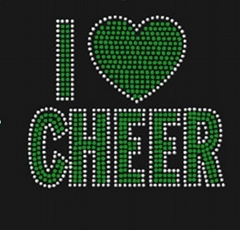 I love cheer rhinestone