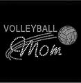 Volleyball Mom Wholesale Rhinestone Heat