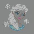 Frozen Elsa Rhinestone Iron On Transfer