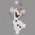 The Snowman In Frozen Rhinestone Motif