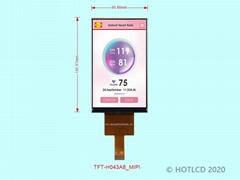 4.3寸竖屏MIPI接口TFT彩屏CTP触摸屏