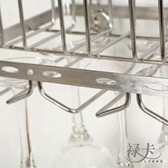 不锈钢悬挂式杯架 - 禄卡家居